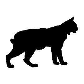 Bobcat Silhouette Stencil