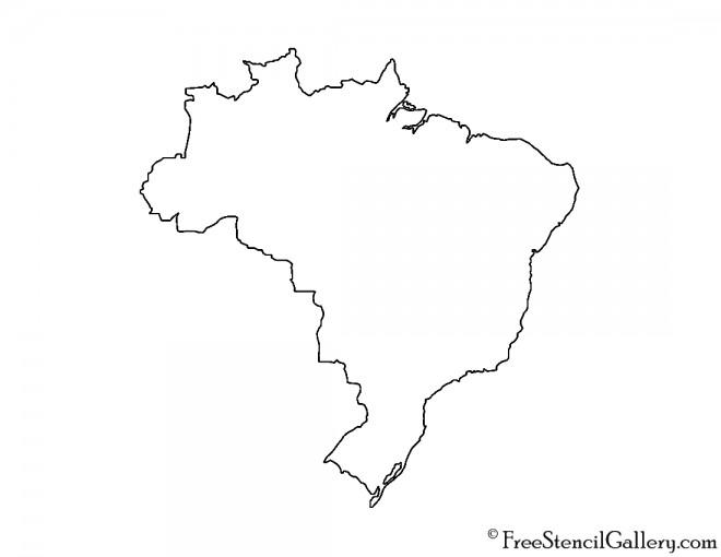 Brazil Stencil
