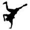 Break Dancer Silhouette Stencil