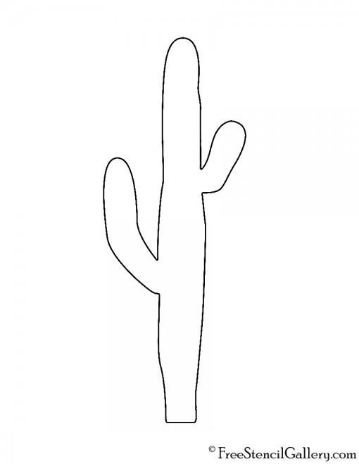 Cactus Silhouette Stencil