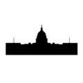 Capitol Building Silhouette Stencil