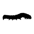 Caterpillar Silhouette Stencil