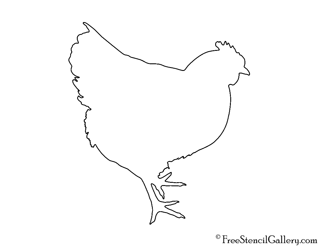 photograph relating to Chicken Printable known as Chook Silhouette Stencil No cost Stencil Gallery