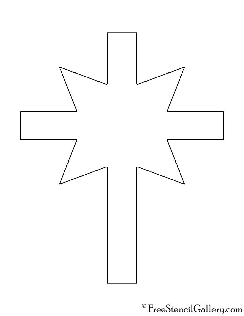 Church of Scientology Cross Stencil