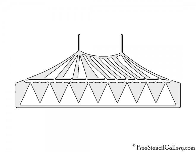 Circus Tent Stencil