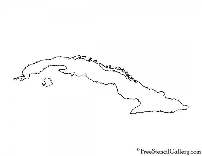 Cuba Stencil