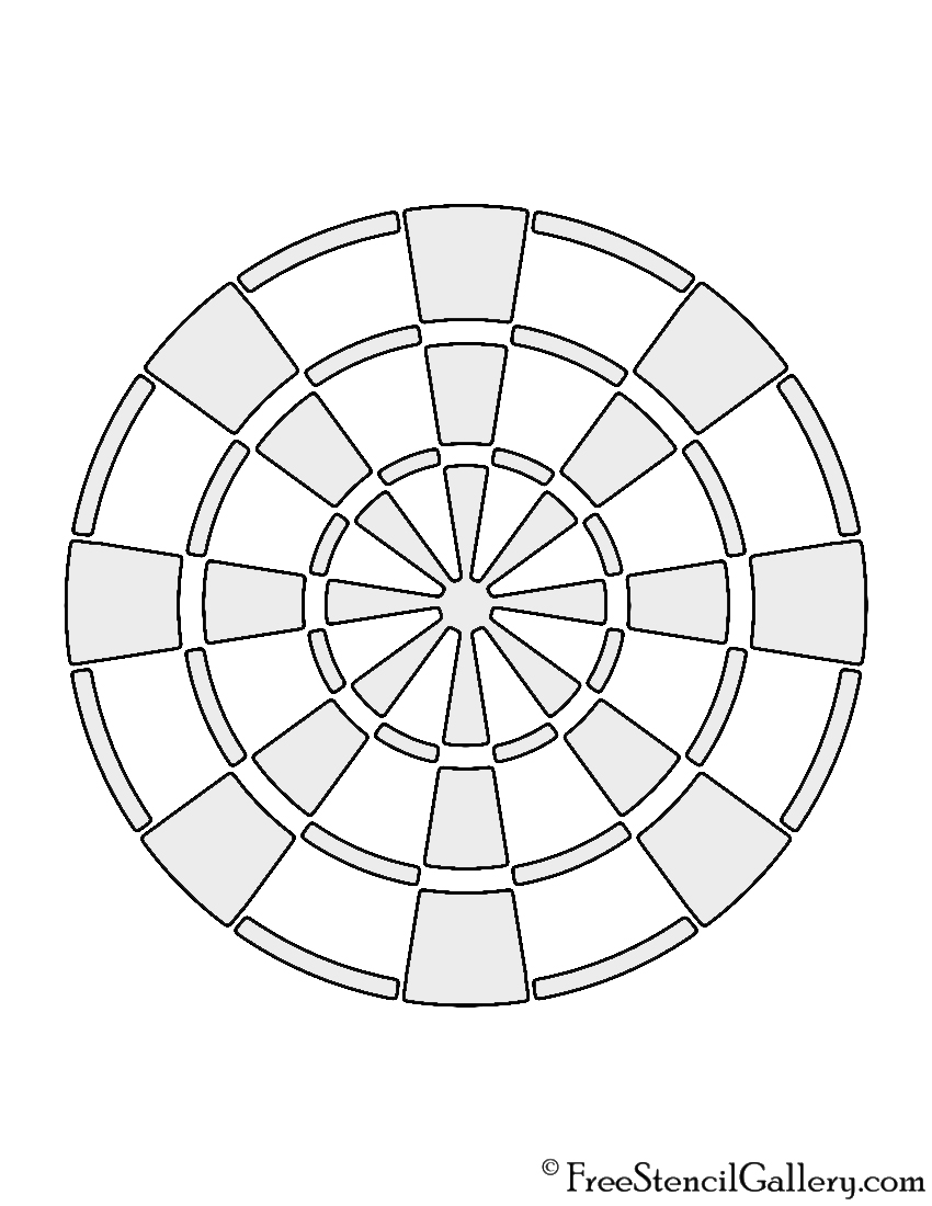 graphic about Printable Dart Board named Dartboard Stencil Free of charge Stencil Gallery