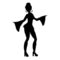 Disco Dancer Silhouette 02 Stencil