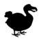 Dodo Bird Silhouette Stencil
