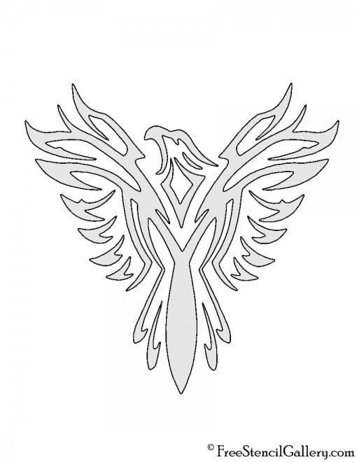 Eagle Tribal Stencil