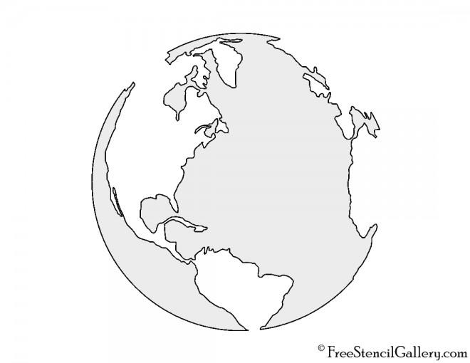 Earth Stencil