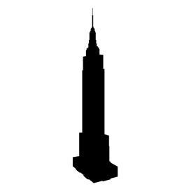 Empire State Building Silhouette Stencil