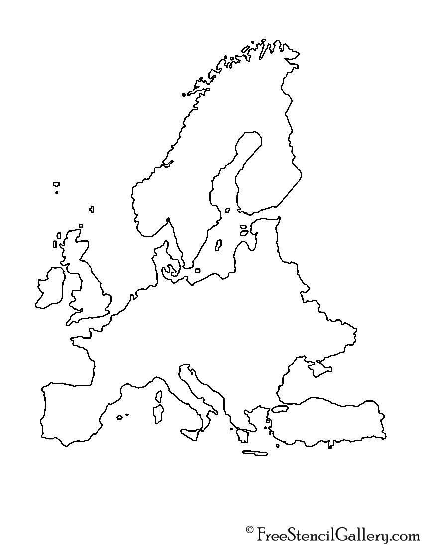 Europe Stencil