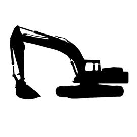 Excavator Stencil