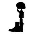 Fallen Soldier Battle Cross Stencil