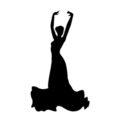 Flamenco Dancer Silhouette Stencil