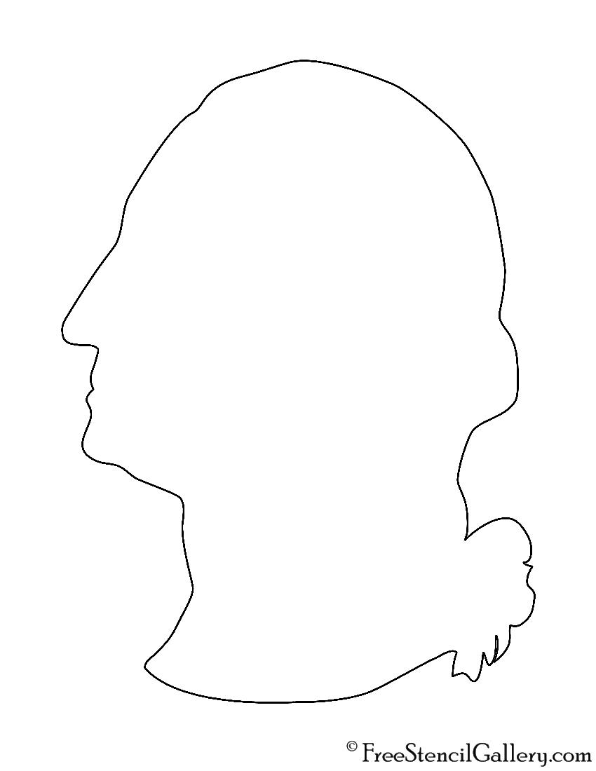 George Washington Bust Stencil