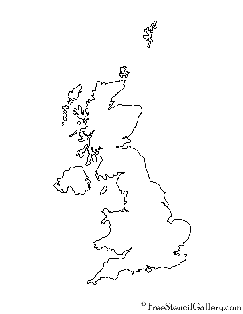 Great Britain Stencil