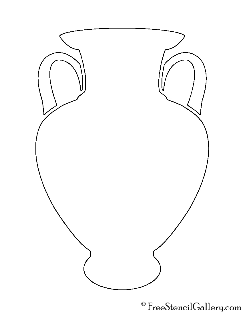 Ancient Vase Stencil
