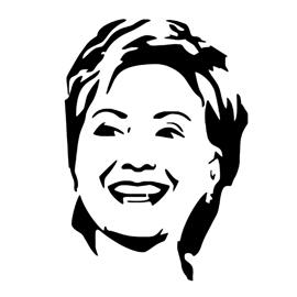 Hillary Clinton Stencil