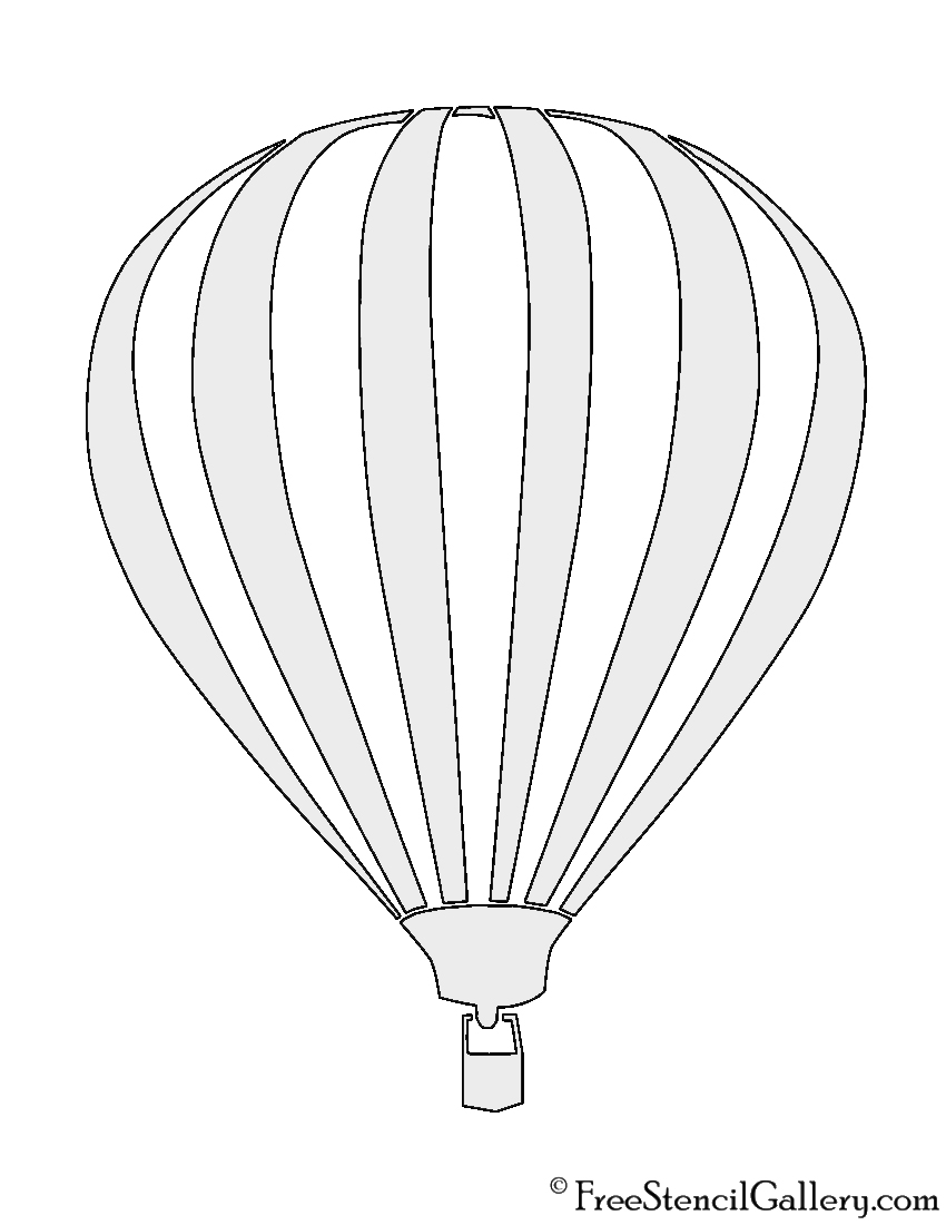 graphic about Printable Hot Air Balloon identify Incredibly hot Air Balloon Stencil No cost Stencil Gallery