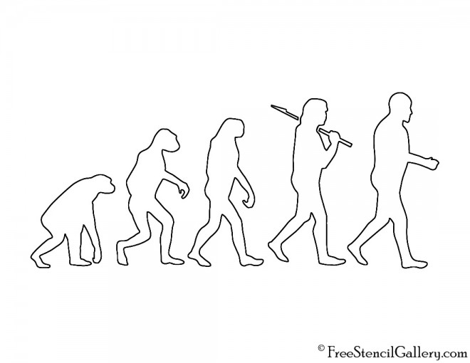 Human Evolution Stencil