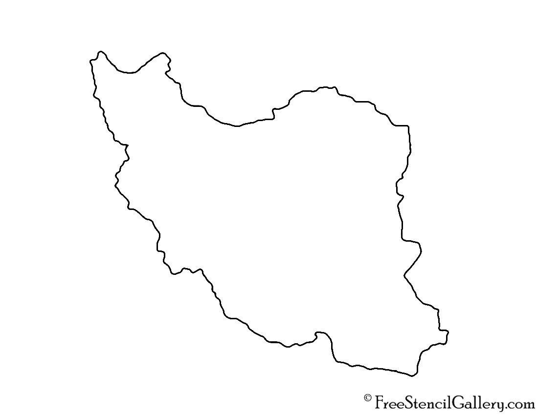 Iran Stencil
