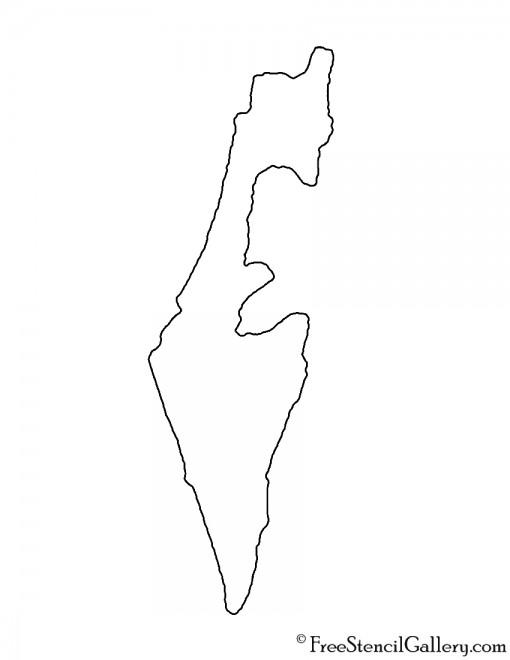 Israel Stencil