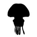 Jellyfish Silhouette Stencil
