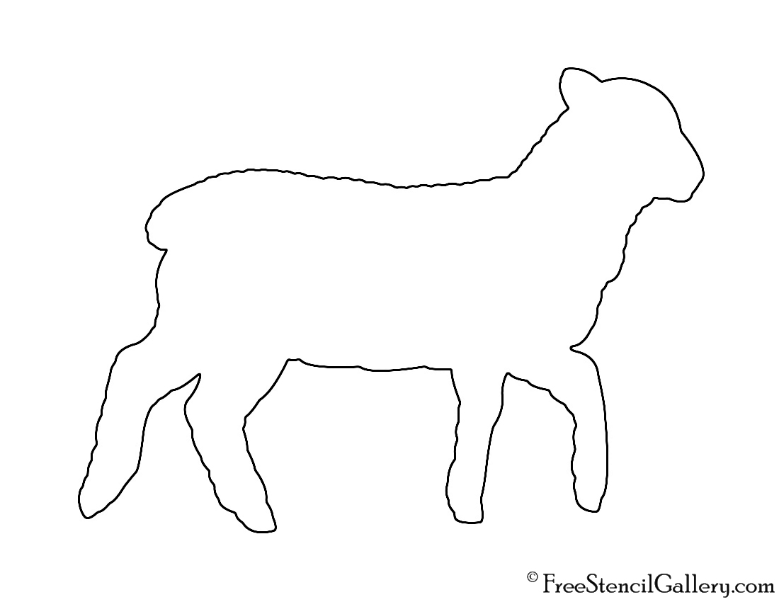 Lamb silhouette stencil free stencil gallery for Lamb template to print
