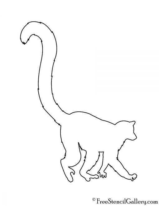Lemur Silhouette Stencil