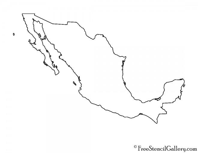 Mexico Stencil