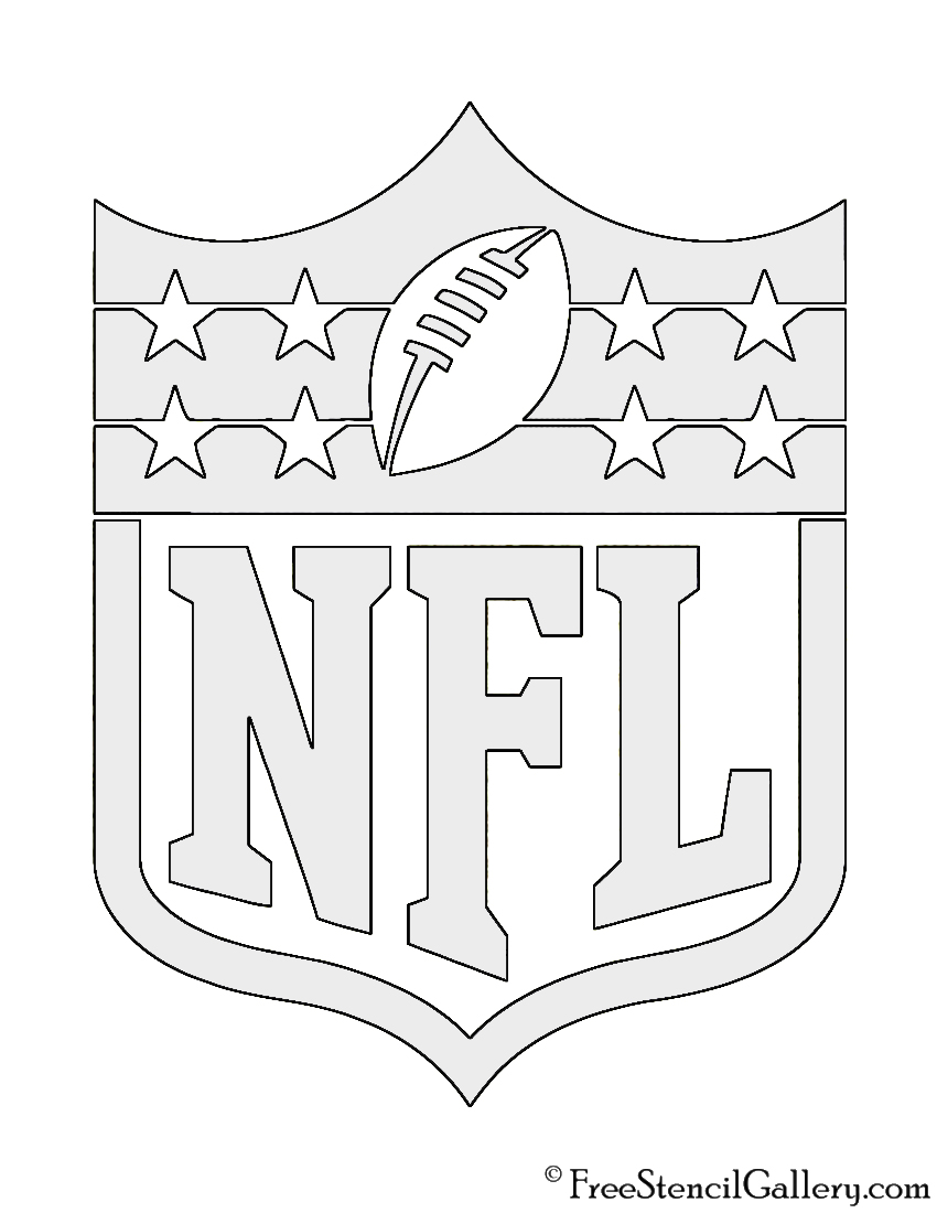 photograph regarding Printable Nfl Logos titled NFL Brand Stencil Cost-free Stencil Gallery