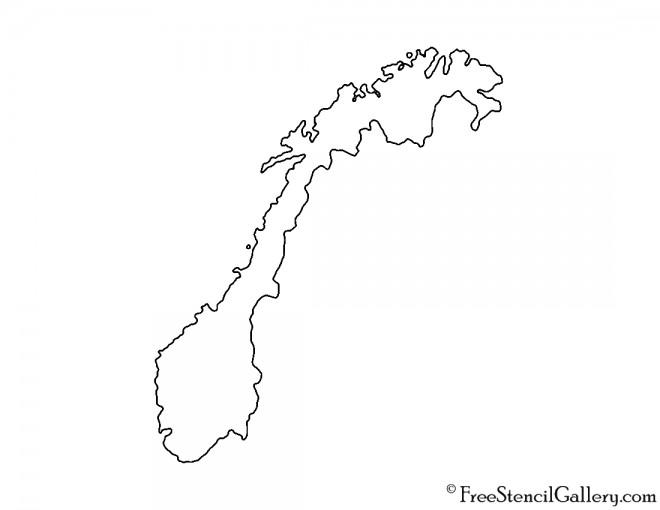 Norway Stencil