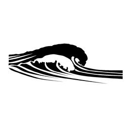 Ocean Waves Stencil