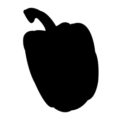 Pepper Silhouette Stencil