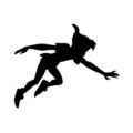 Peter Pan Silhouette Stencil