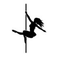Pole Dancer Silhouette Stencil