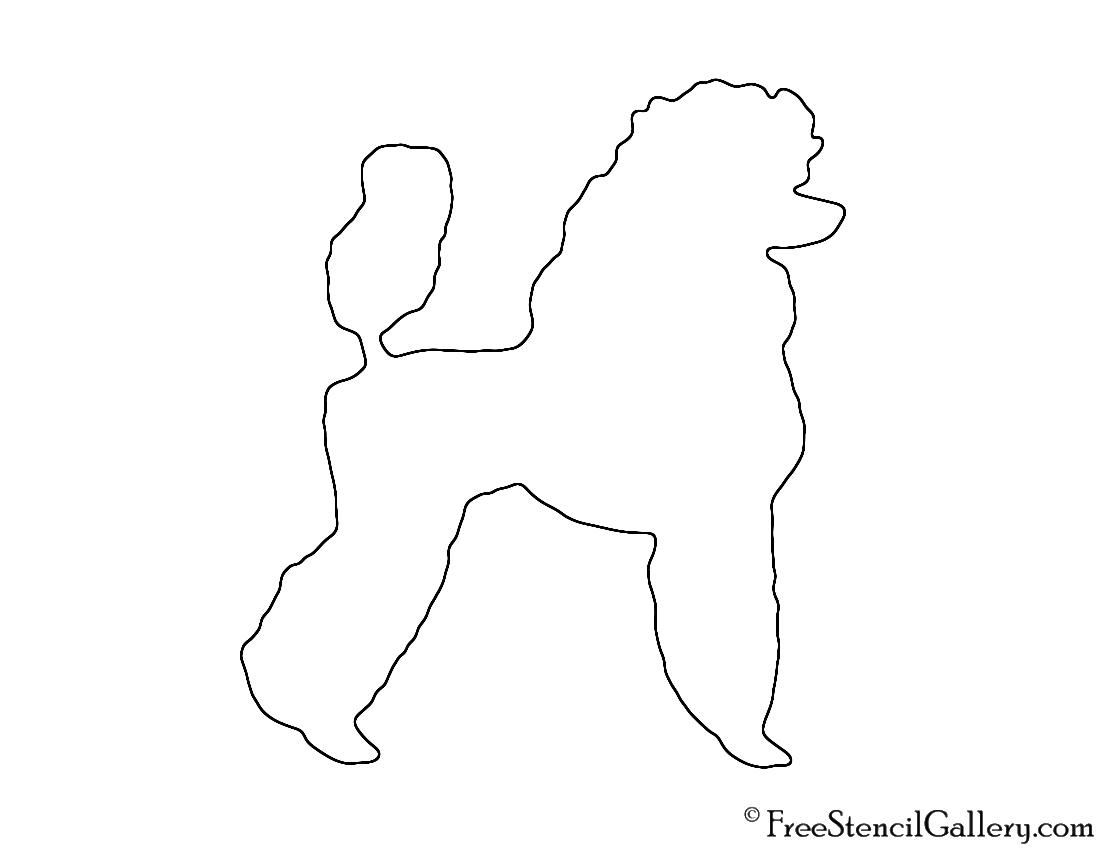 Poodle Silhouette 02 Stencil Free Stencil Gallery