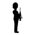 Queens Guard Silhouette Stencil