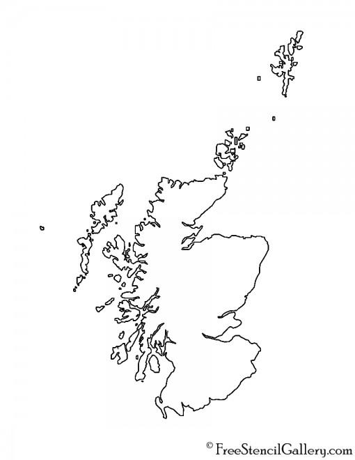 Scotland Stencil