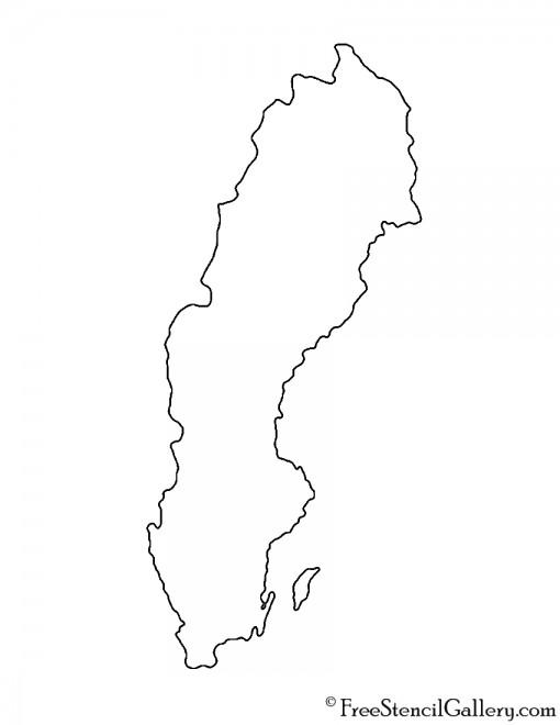 Sweden Stencil