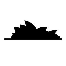 Sydney Opera House Silhouette Stencil