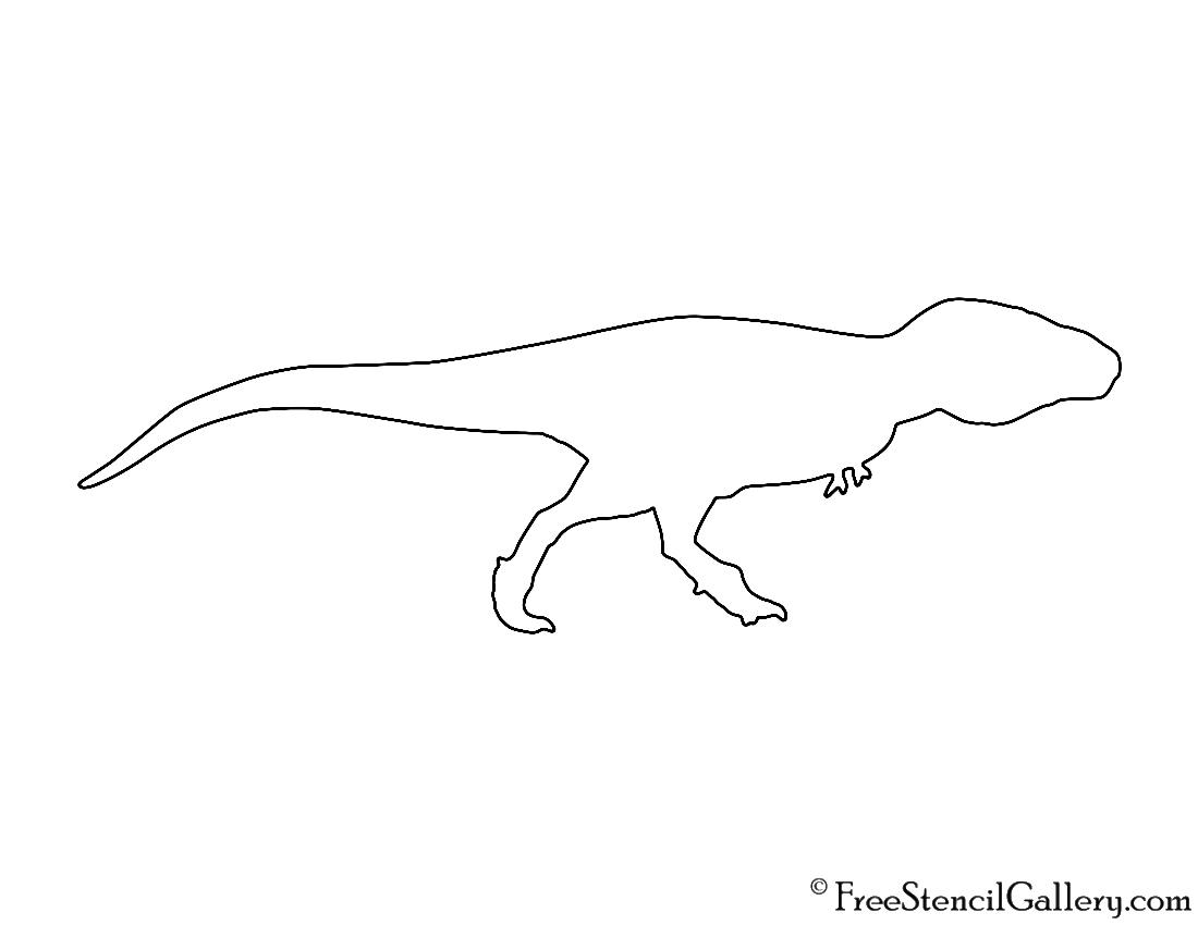 Tyranosaurus Rex Silhouette Stencil