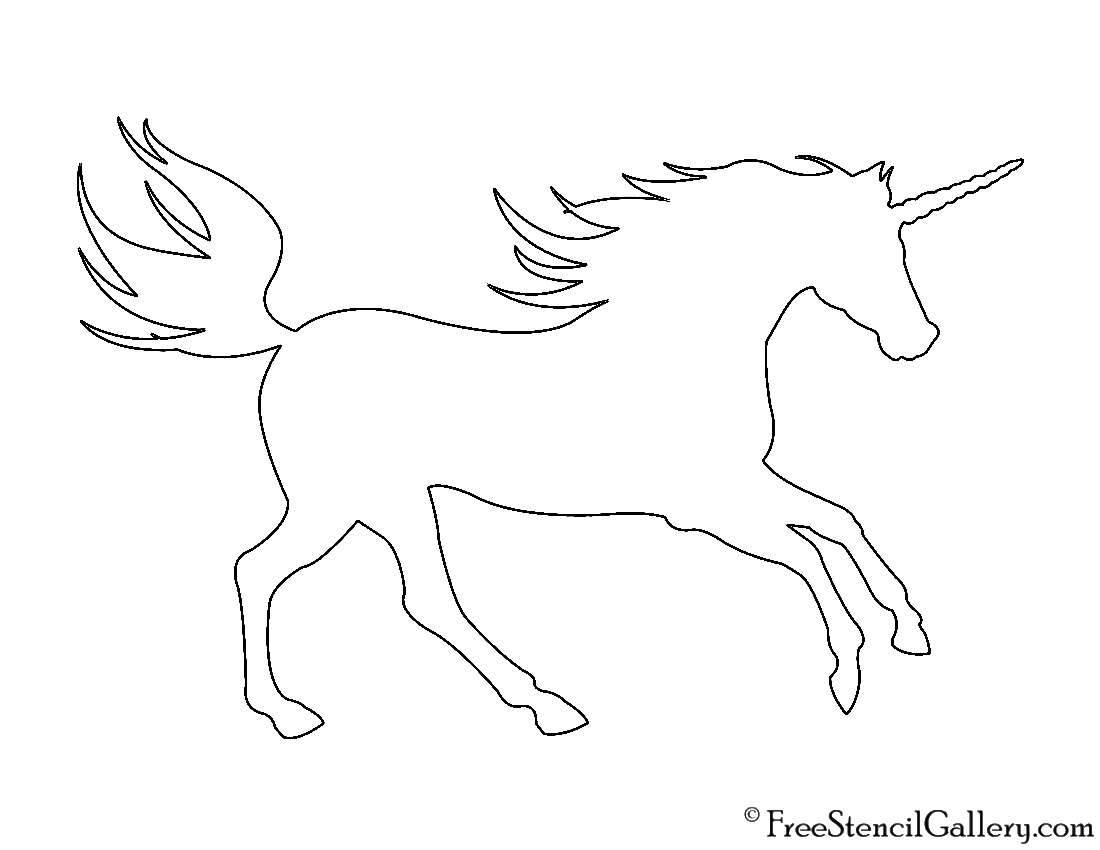 Vibrant image throughout free printable unicorn template