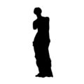 Venus de Milo Silhouette Stencil