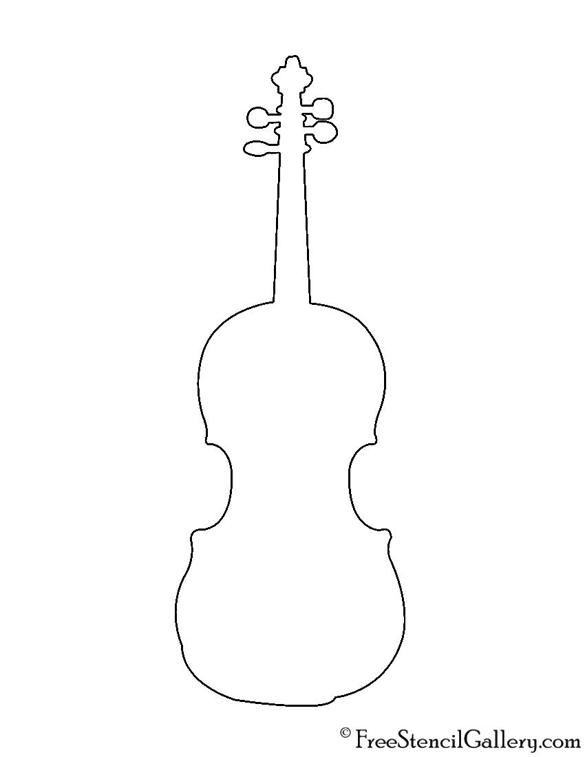 Violin Stencil