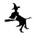Witch Silhouette Stencil