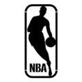 NBA logo stencil