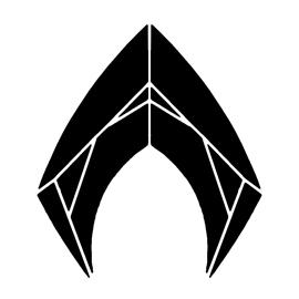Aquaman Symbol Stencil